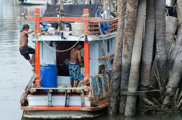 Port of Pak Nam Pran, Thailand