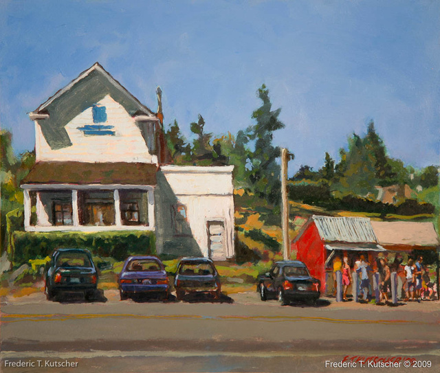 2009-20 Island Coffee Stand (Kathy's at Burton WA) (13.75W  11.75H oil on paper on board).jpg