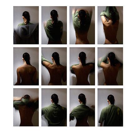 Vues de dos, elle (détail), 2007