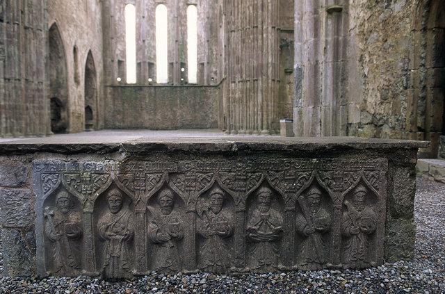 Bas-relief, église de Cashel, comté de Tiperrary