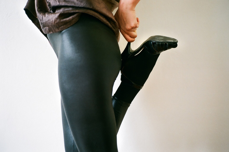 jen - lether leggings and hand made shoes.jpg