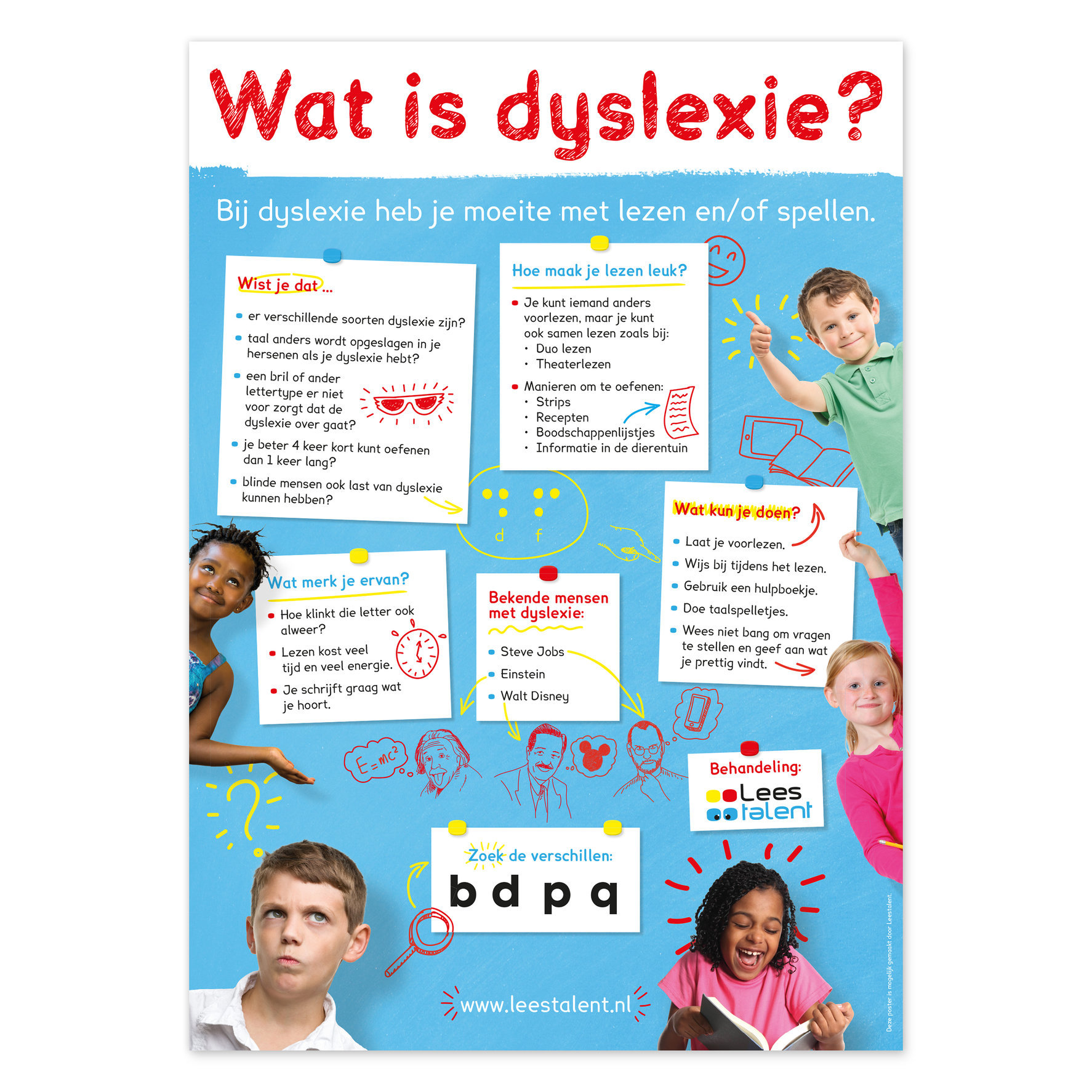Poster Wat is dyslexie? | diversen