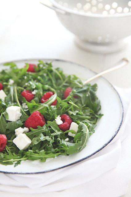 Raspberry, Rocket & Feta Salad
