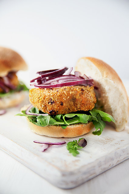 Carrot & Chickpea Burger