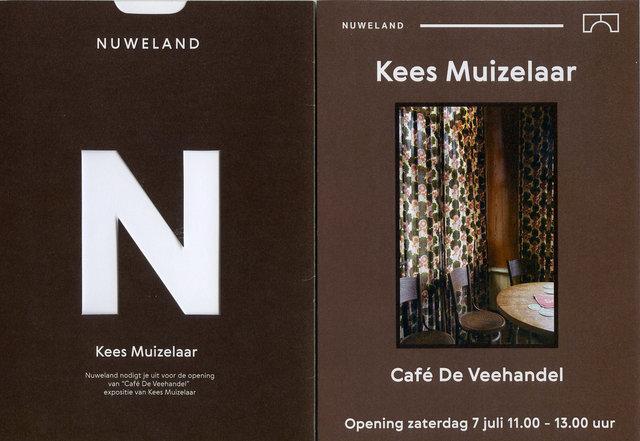 """Expositie / Exhibition """"Café De Veehandel"""" in samenwerking met Galerie Nuweland,"""