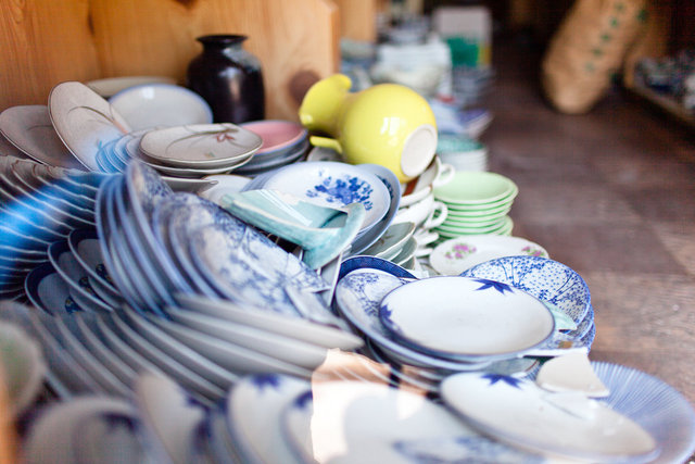 Broken ceramics.