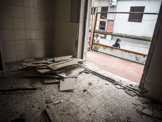 Amianto negli appartamenti abbandonati