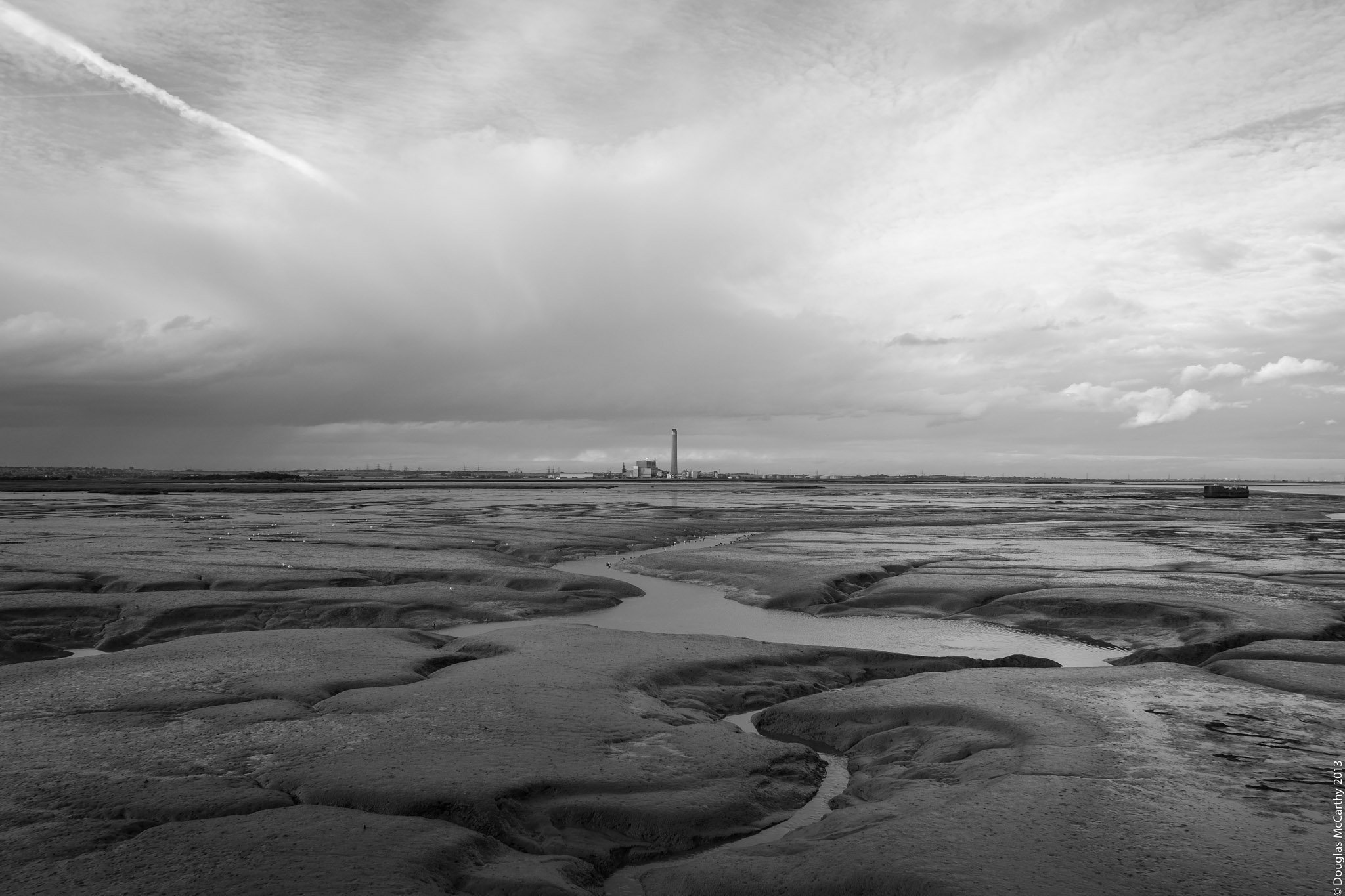 Kingsnorth Power Station from Cinque Port Marshes, Medway, 2012
