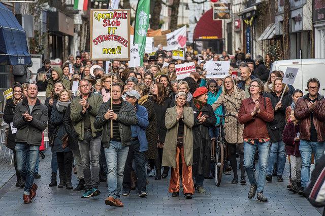 Stakend onderwijspersoneel op landelijke actiedag, Breda, 2019