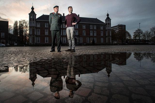 Nico Geerts, voormalig commandant Nederlandse Defensie Academie en zijn coach Richard van Kuijk, 2019