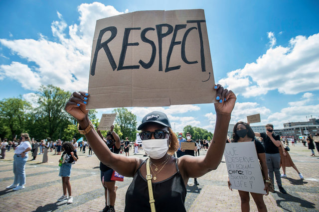 Anti-racisme demonstratie Chasséveld Breda, 2020