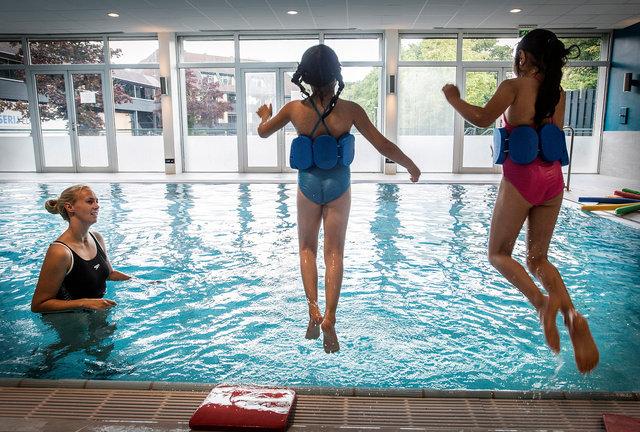 Zwemles voor kinderen azc Princenbosch, Gilze, 2017