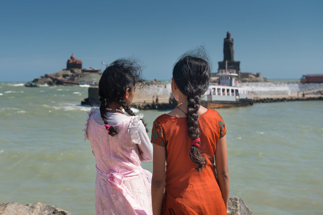 Cape Comorin, Tamil Nadu, India.