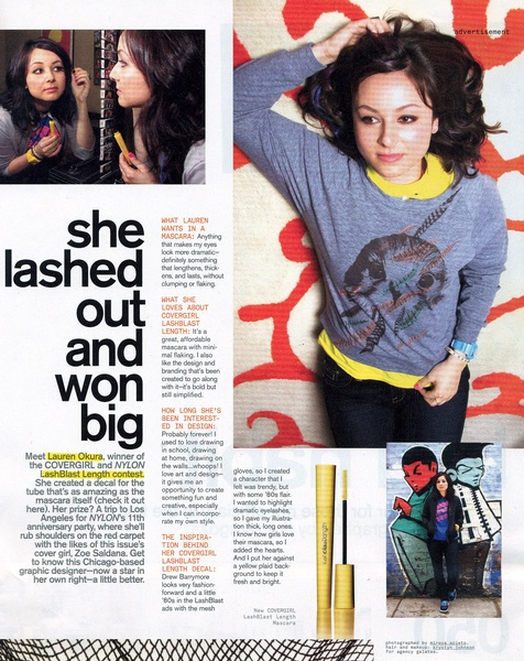 Nylon Magazine Covergirl Cosmetics Advertorial