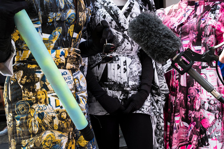 Designer Political Dresses Home Made No Doubt .tif