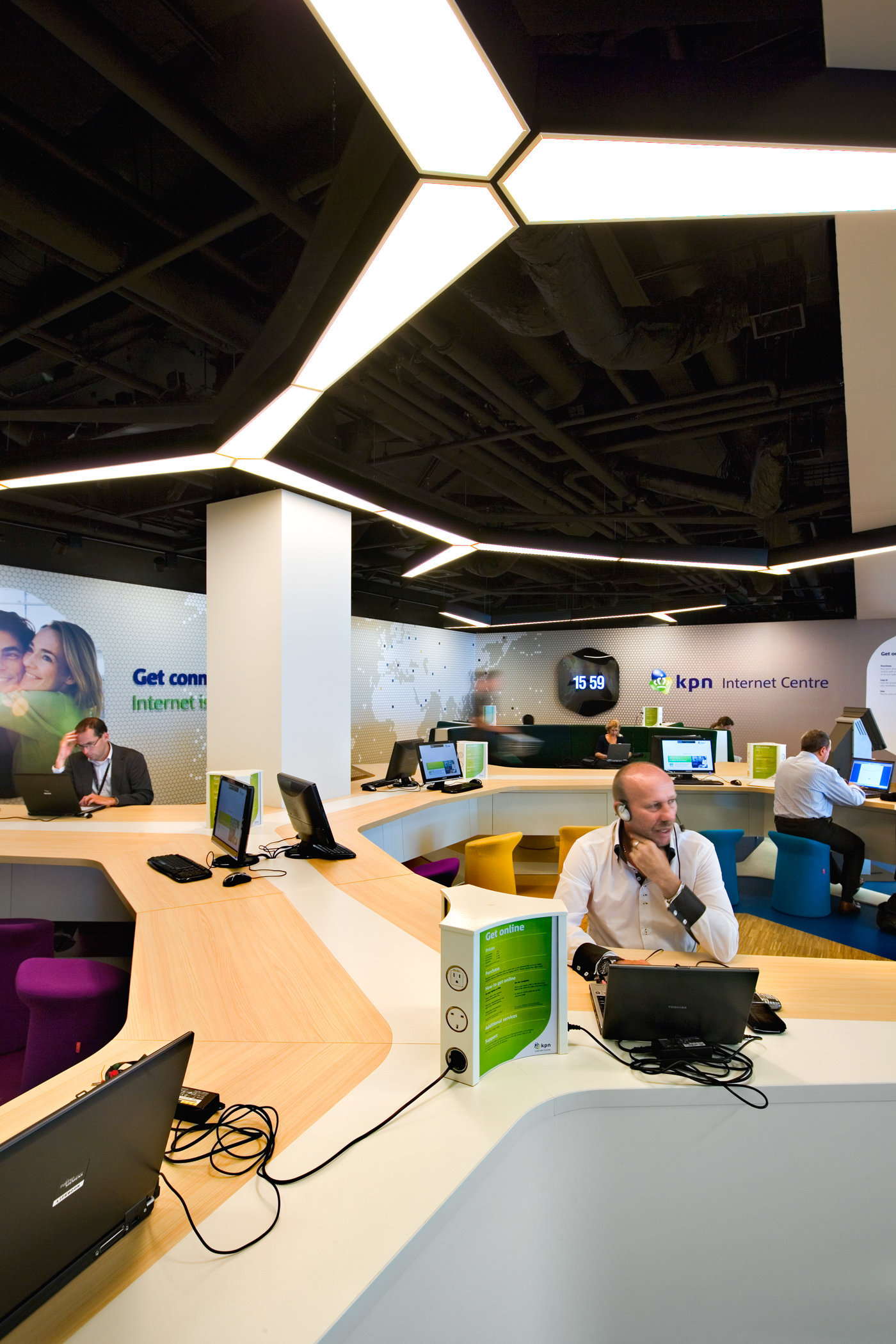KPN Hotspot at Schiphol Airport, Amsterdam by Storeage