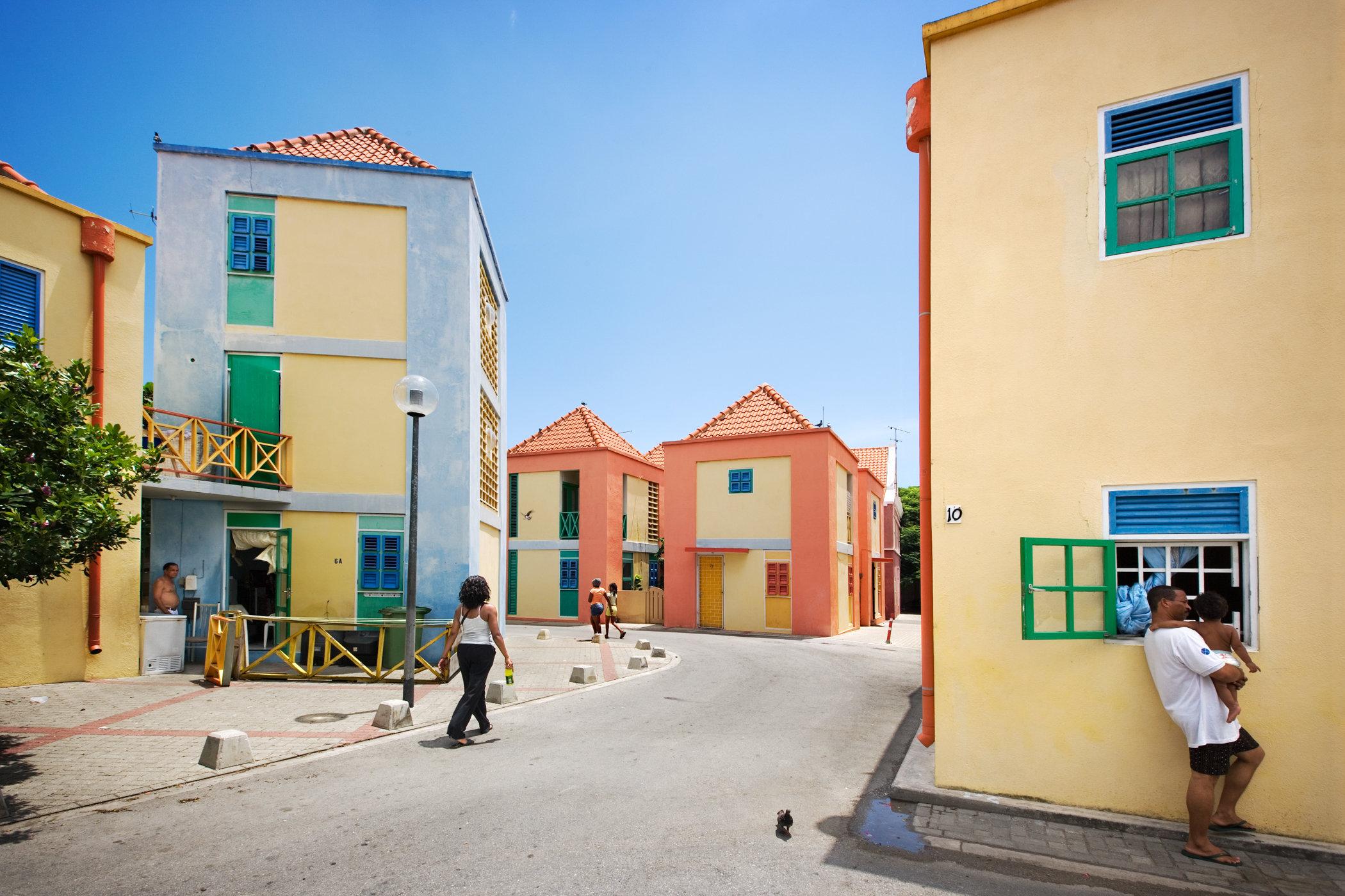 Willemstad, Curacao for book: 25 years stichting Forum voor Stedelijke Vernieuwing