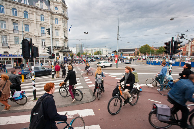 Biking chaos, Central Station, Amsterdam