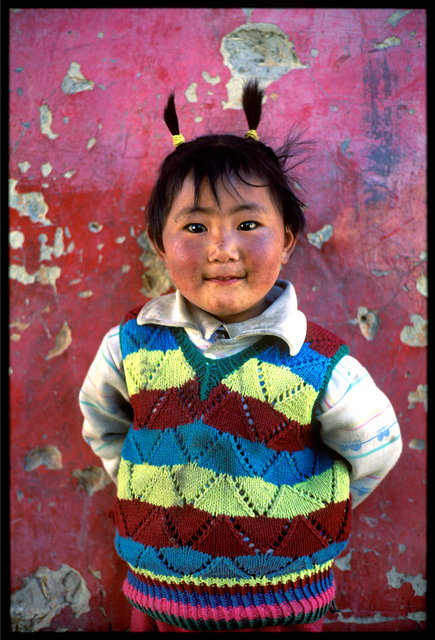 Little girl in Gyantze, Tibet