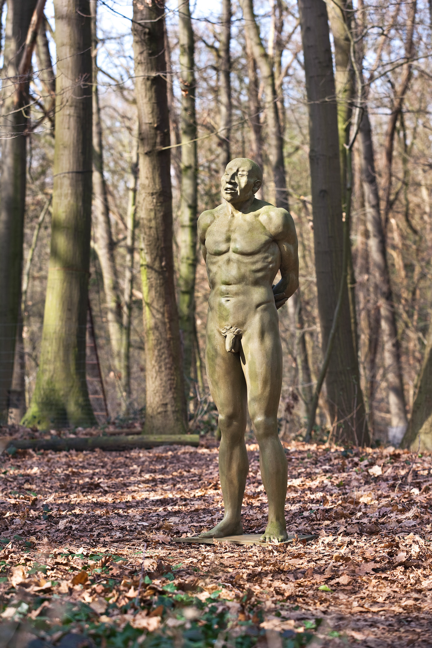 Statues of Nicolas van Ronkenstein, The Netherlands, for publication: Tussen Mythe en Werkelijkheid