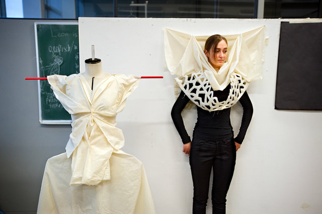 Series about Fashion Academies for The Face of Lace: publication and exhibition in Brugge, Belgium