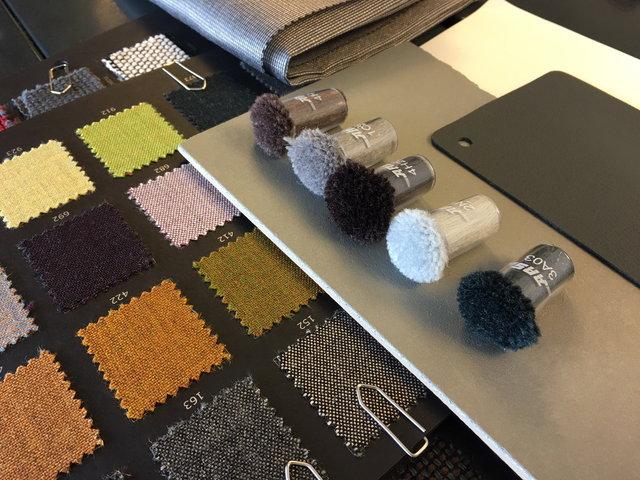 Auswahl der Textilien