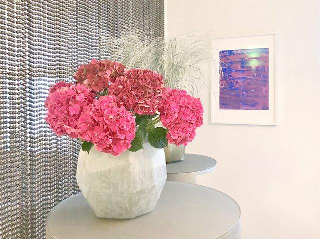 Blumen im Entrée ✓