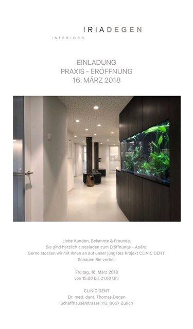 Praxis-Wiedereröffnung im März 2018