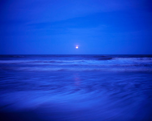 Water and Tides: Full Moon, South Cut Beach, 2017