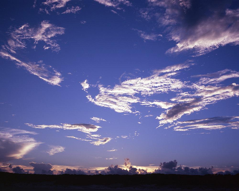 Sky above Dungeness Beach