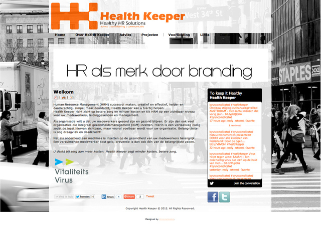 Template design for Health Keeper