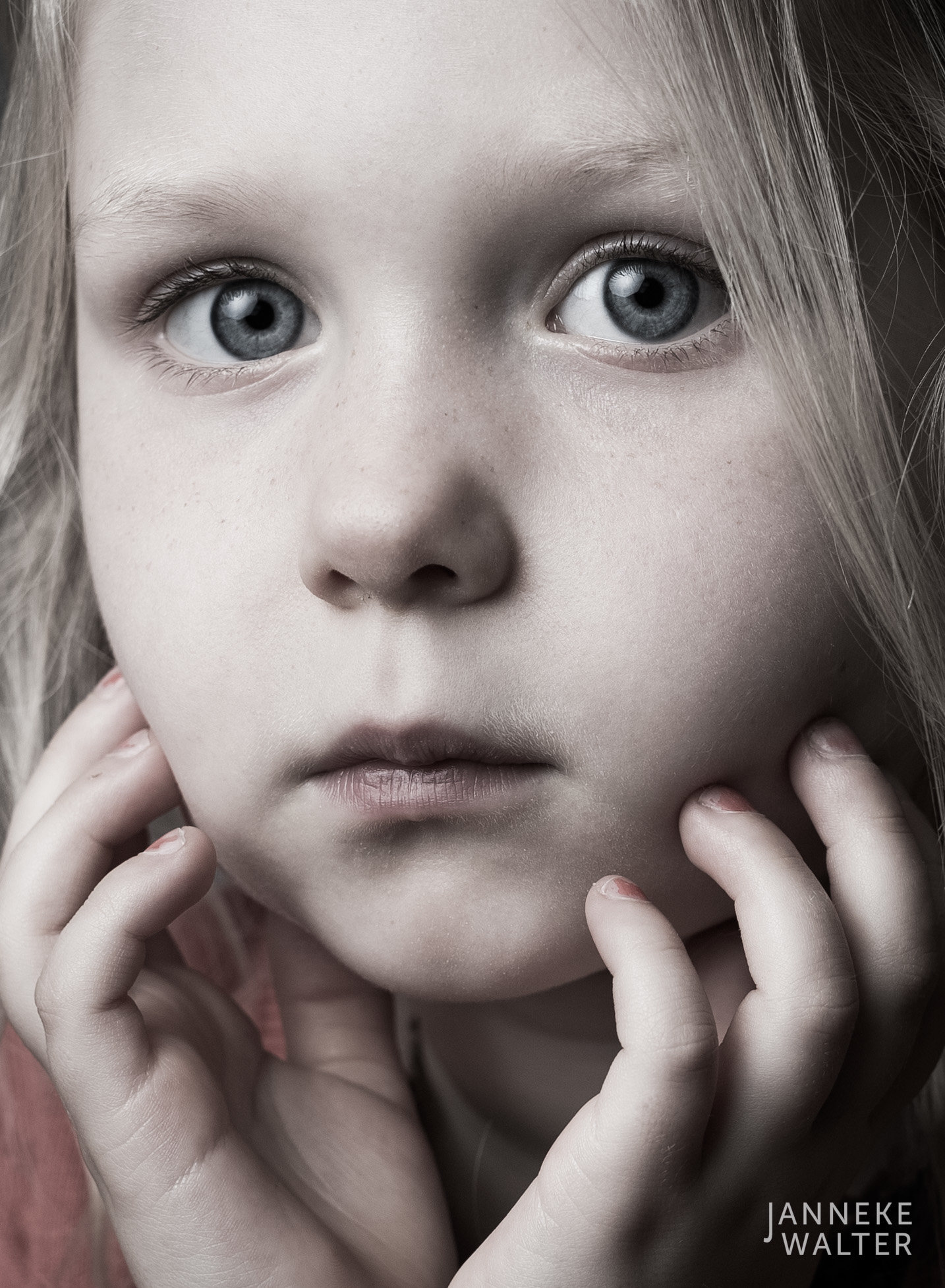 Portretfoto kind close-up @ Janneke Walter, kinderfotograaf Utrecht De Bilt