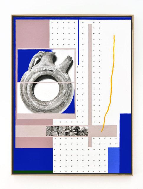 Ourobouros bob ross, 2019, 57 x 43 cm, acrylic and flashe on canvas web framed web.jpg