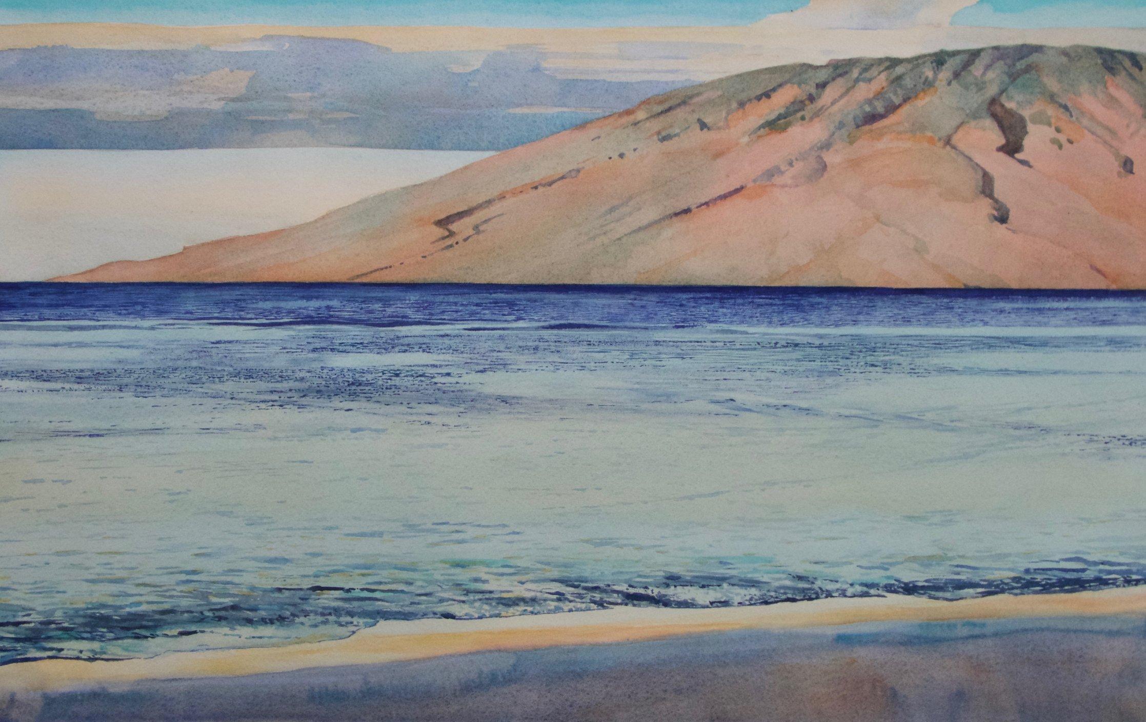 Keiki beach towards Lanai