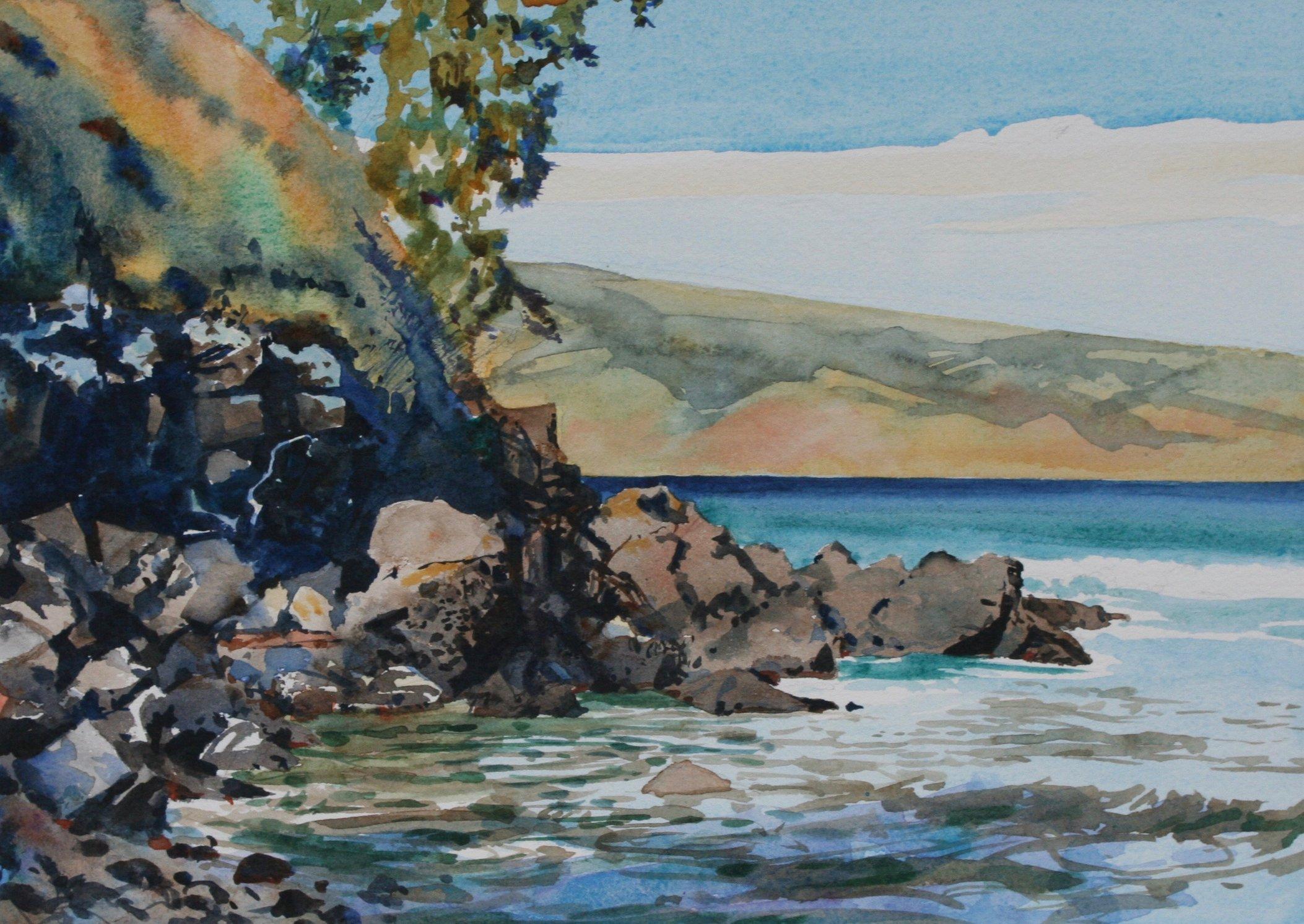 Honoloa Bay cliffs
