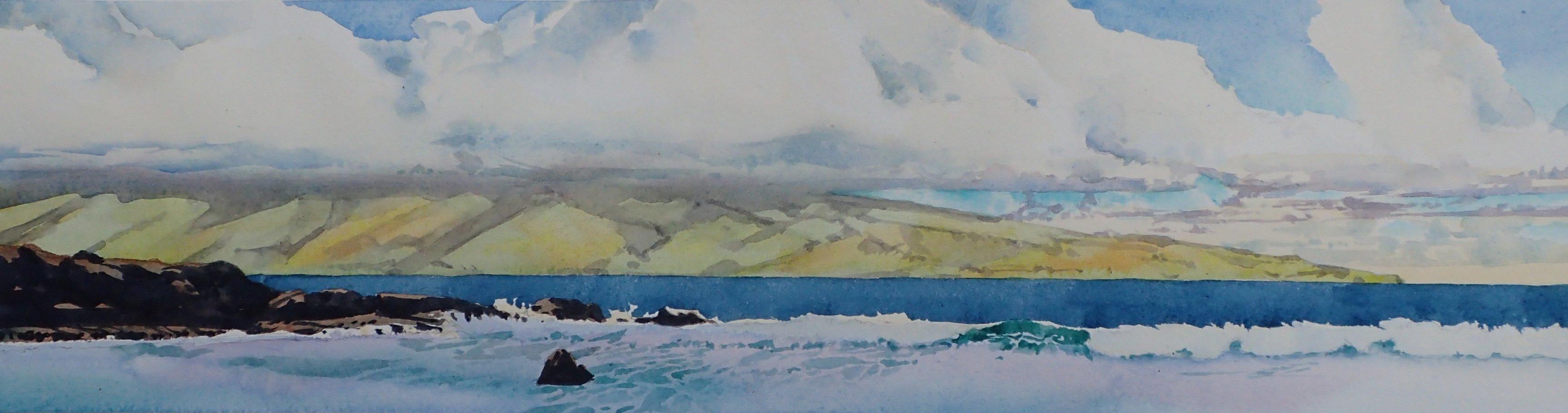 Molokai from Mokuleia Beach