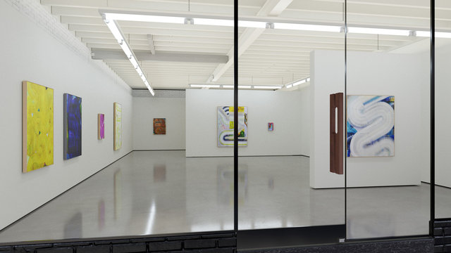 Smoke Screen - Install at Edwina Corlette Gallery