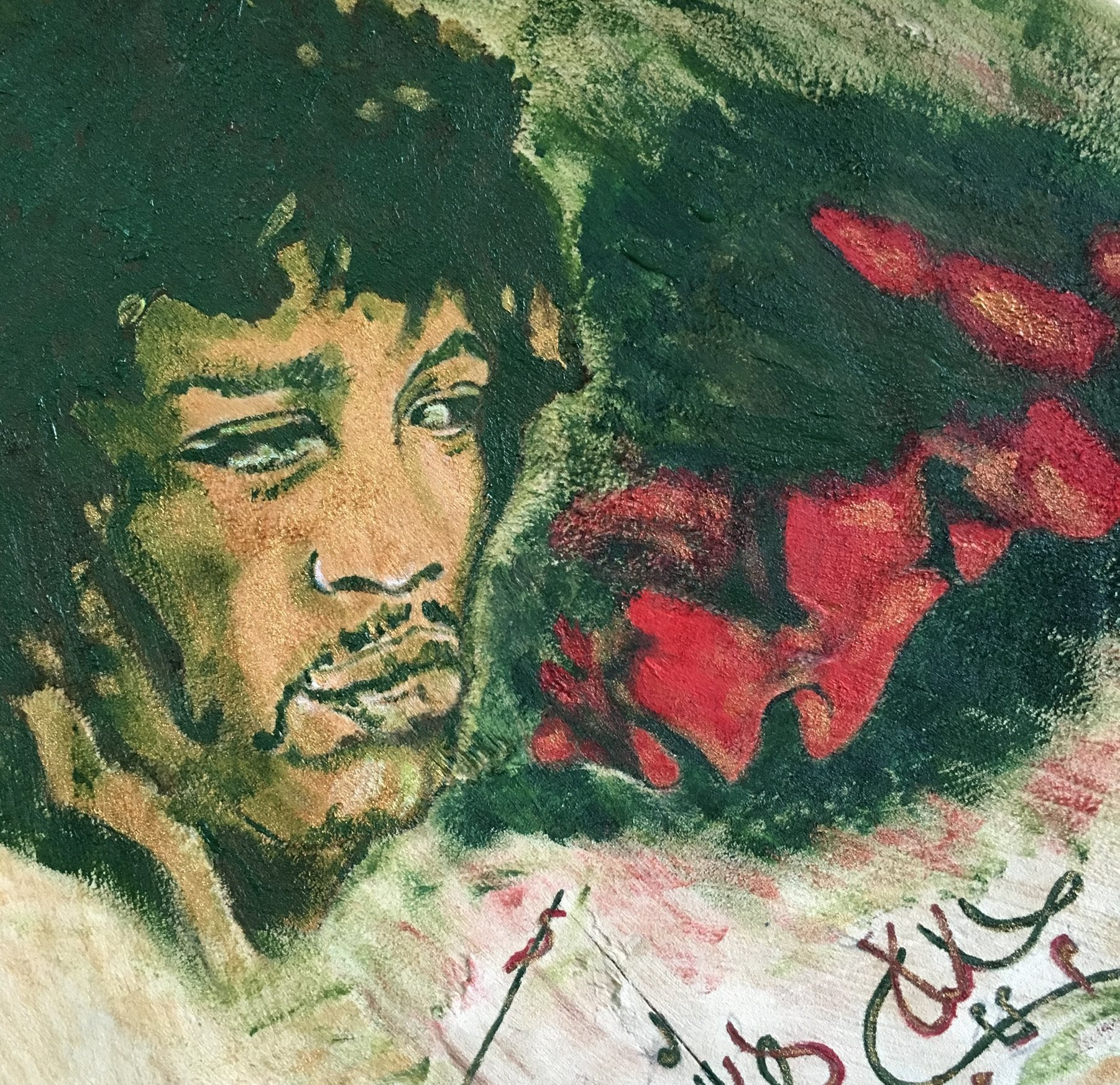 Jimi Hendrix Chair, Detail 2