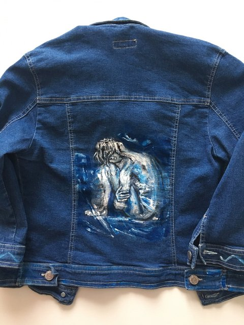 Jeans Jacket - Girl under Light