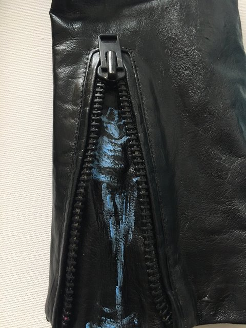 Leather Fashion Jacket - Right Sleeve Detail