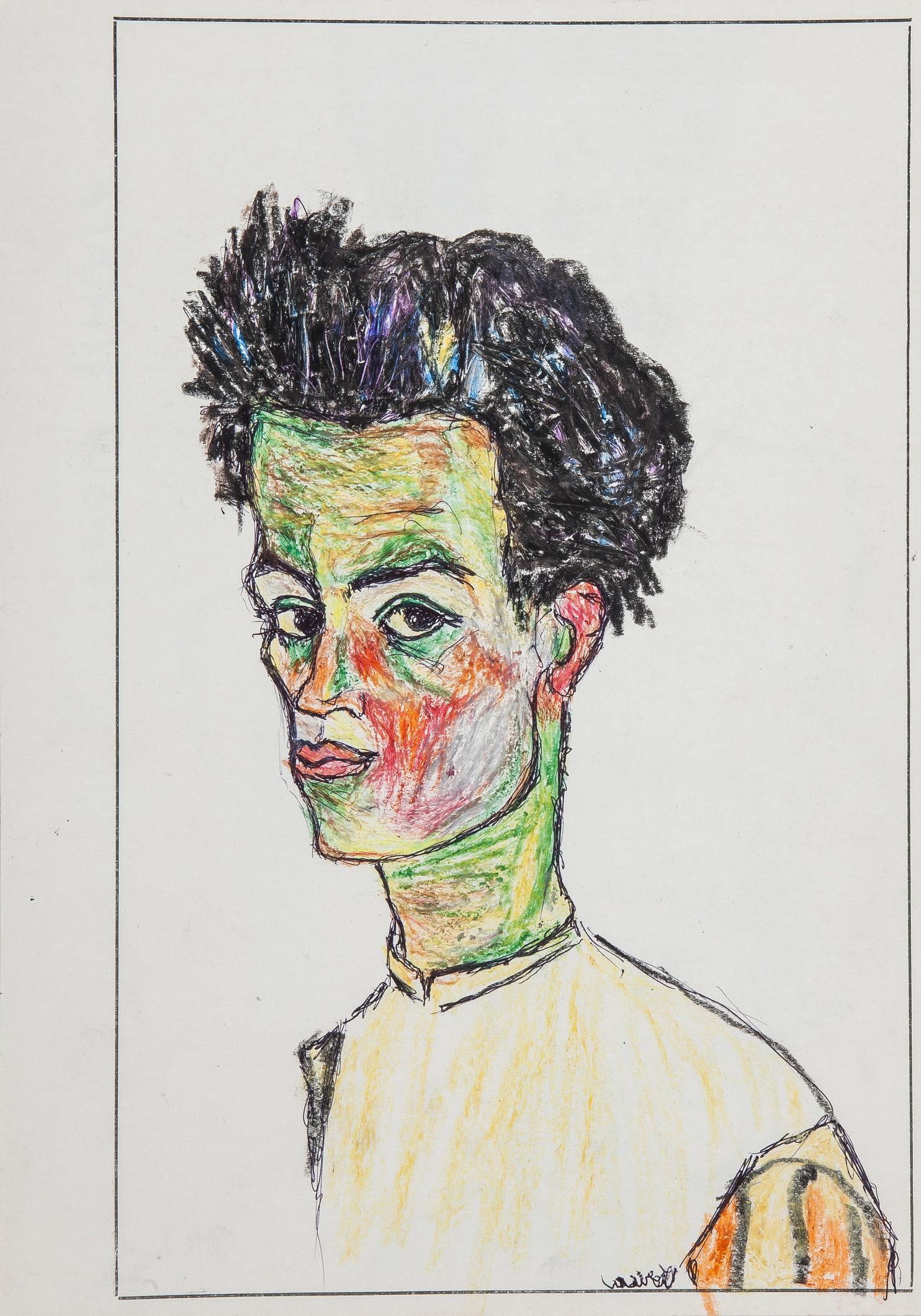Schiele (Study 3) - Left Hand Made