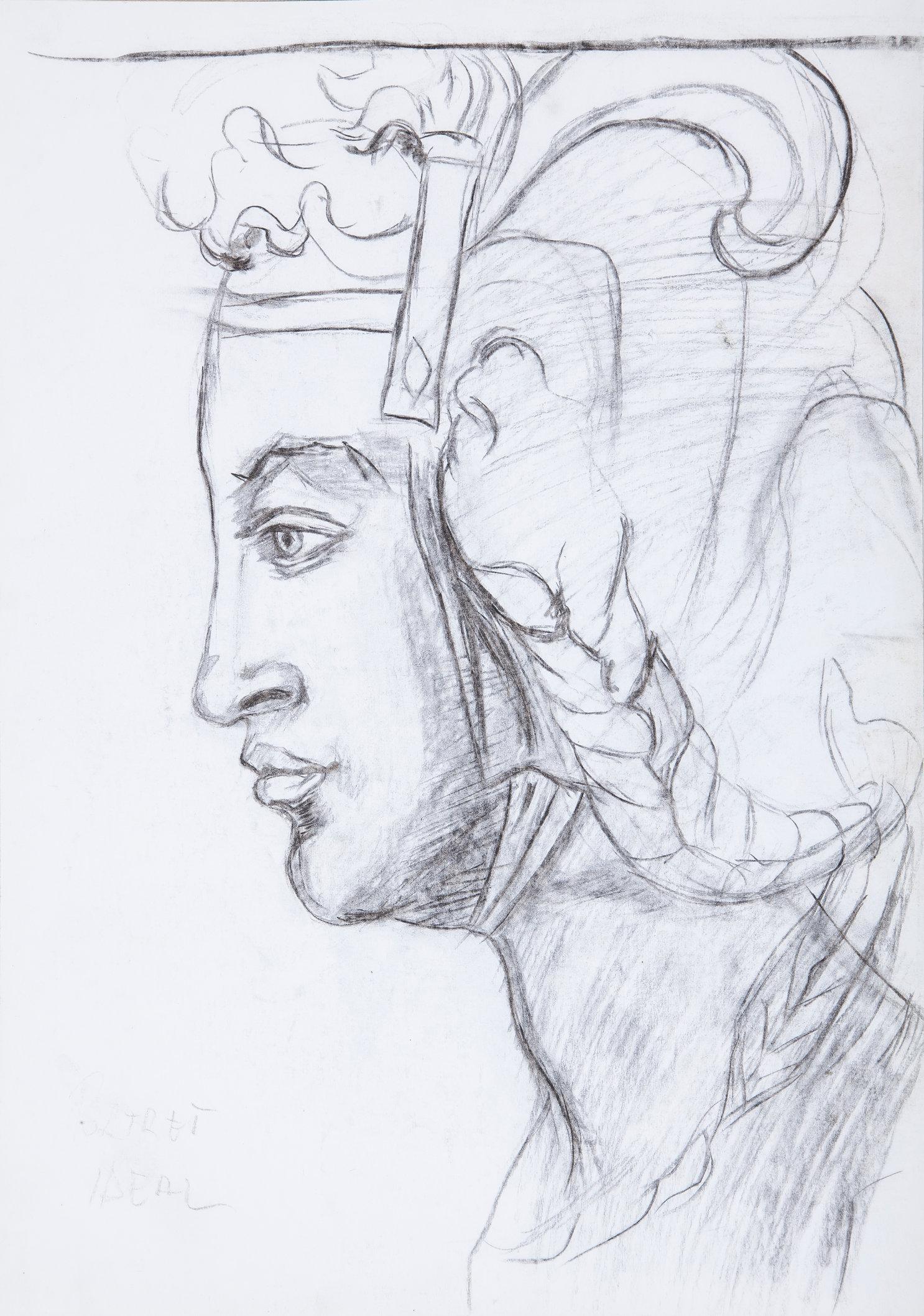 Woman  Head Study