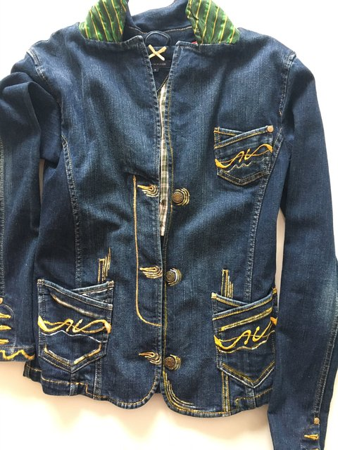 Jeans Jacket - Butterfly - Front Side
