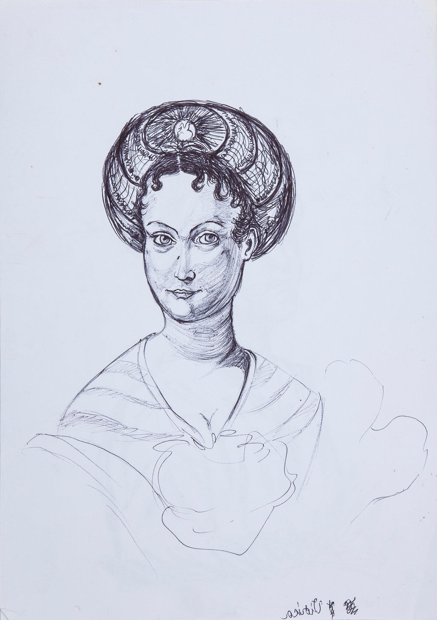 Woman 1 - Study (Left Hand Made)