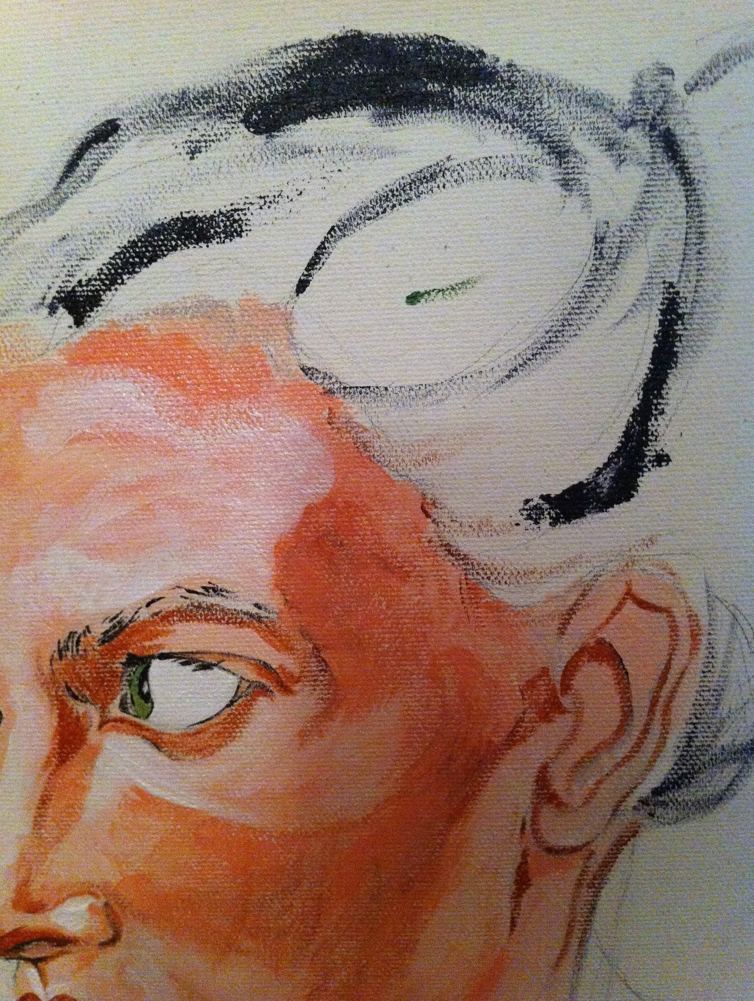 Self Portrait, Unfinished - Detail 2