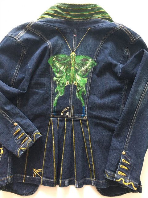 Jeans Jacket - Butterfly - Back Side