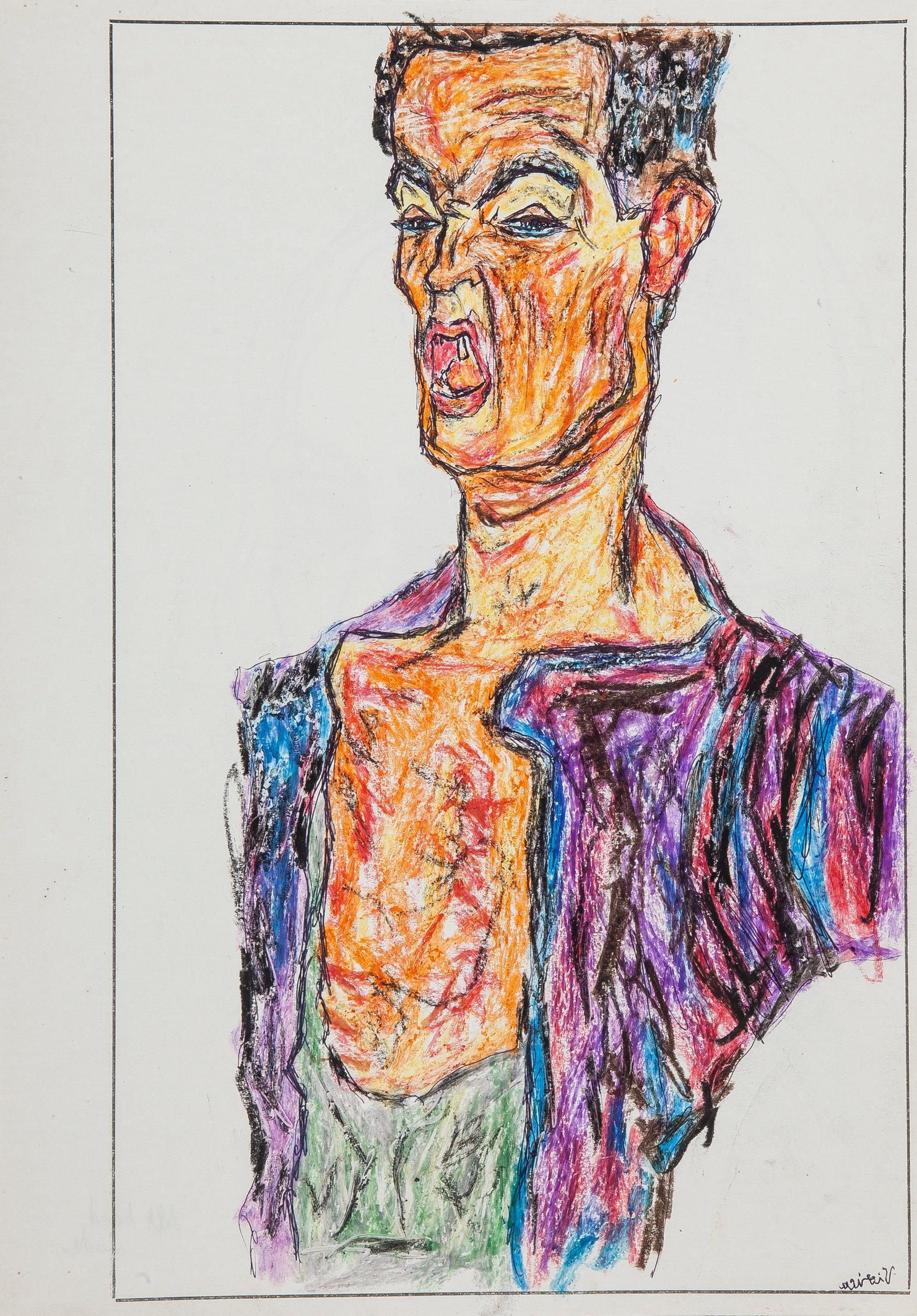 Schiele (Study 1) - Left Hand Made