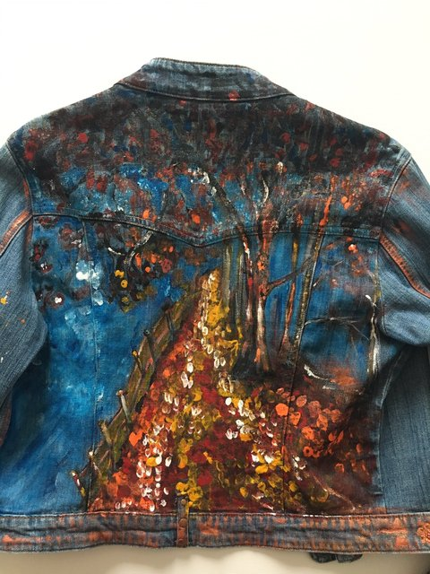 Jeans Jacket - Back Side - Autumn