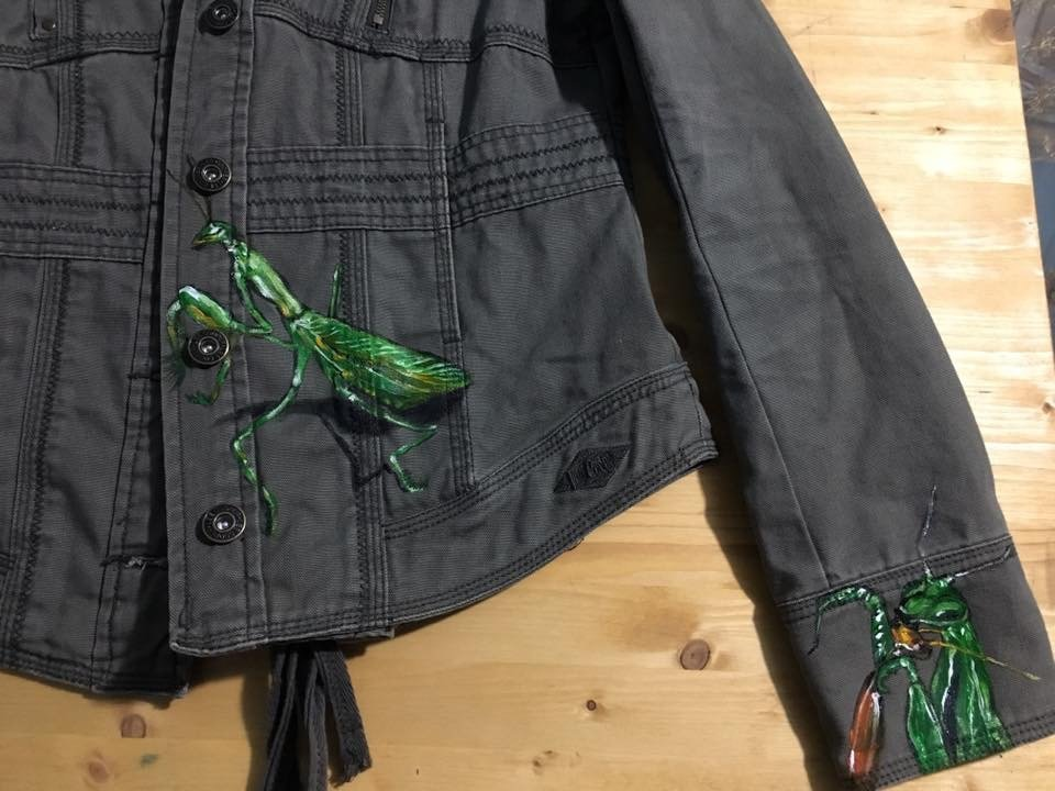 Jeans Jacket - Front Side - Praying Mantis - Another Detail