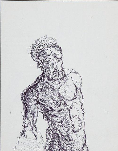 Durer's Naked Self Portrait (Left Hand Made)